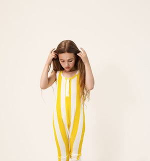 Hugo Loves Tiki Yellow Stripe Terry Playsuit
