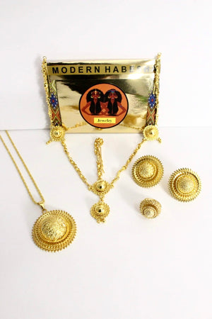 Enatiye Gold Set Modern Habesha Jewelry
