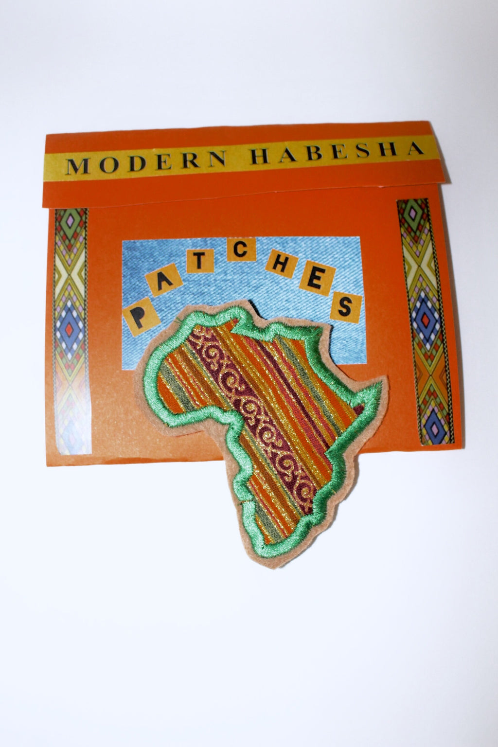 Mama Africa Green Fabric Patch