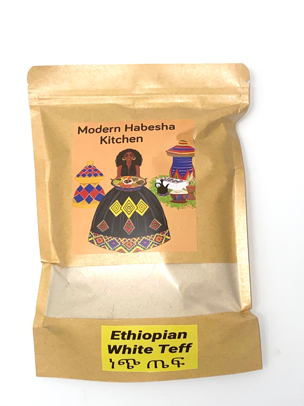 Authentic Ethiopian White injera Teff