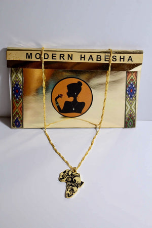 AFRICA NECKLACE Modern Habesha Jewelry