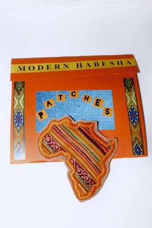 Mama Africa orange Fabric Patch