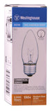 60 Watt B11 Torpedo Incandescent Vibration Resistant Light Bulb