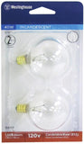 40 Watt G16 1/2 Incandescent Light Bulb