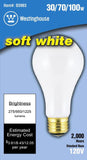 30/70/100 Watt A21 Incandescent 3-Way Light Bulb