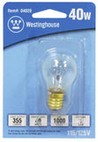 40 Watt S11 Incandescent Microwave Light Bulb