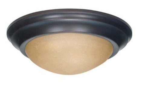 Nuvo 60-3136 - Twist & Lock Dome Medium Flush Mount Ceiling Light