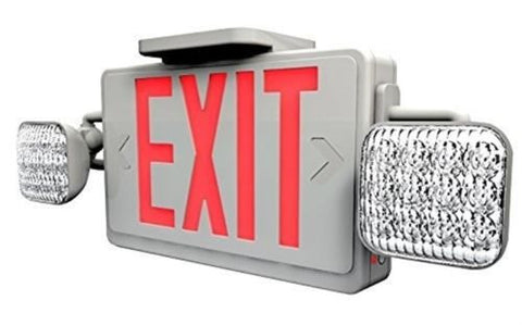 Ciata EXEMR-R-LED - LED Red Exit Sign & Emergency Light w/ Battery Backup