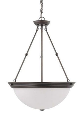 "Nuvo 60-3343 - 20"" Hanging Pendant Light Fixture in Mahogany Bronze Finish"