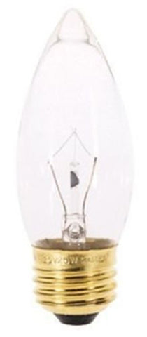Satco A3631 - 25 watt B11 Incandescent Bulb, Clear, Medium Base