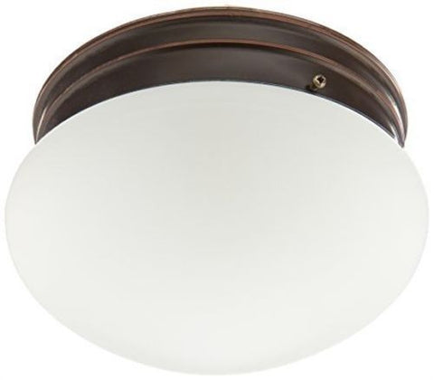"Nuvo 60-2643 - 8"" Flush Mount Ceiling Light in Mahogany Bronze Finish"
