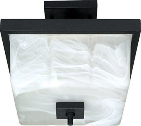"Nuvo 60-002 - 12"" Textured Black Semi Flush Ceiling Light Fixture"