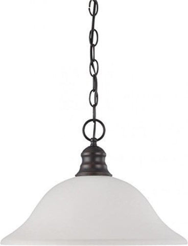 "Nuvo 60-3363 - 16"" Pendant Light in Mahogany Bronze Finish with Frosted Glass"