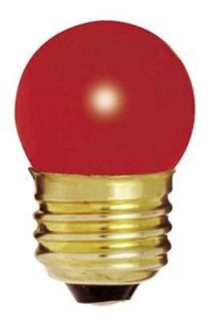 Bulbrite 702707 7.5W Dimmable S11 Night Light Replacement Bulb, Medium Base, Red