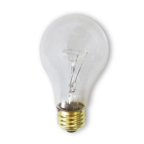 Bulbrite 107275 75 Watt Incandescent A19 Rough Service Bulb, Clear, 2 Pack