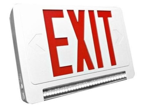 Ciata Lighting Exit Sign And Emergency Lightpipe (LED) Combo W/ Battery Backup