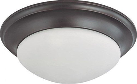 Nuvo 60-3367 - Twist & Lock Dome Large Flush Mount Ceiling Light