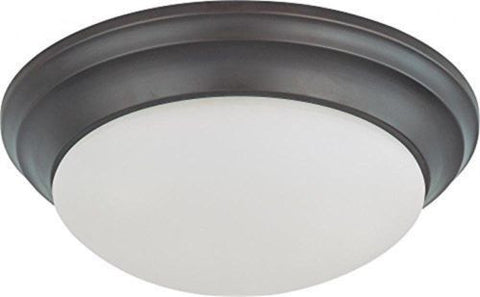 Nuvo 60-3176 - Twist & Lock Dome Medium Flush Mount Ceiling Light