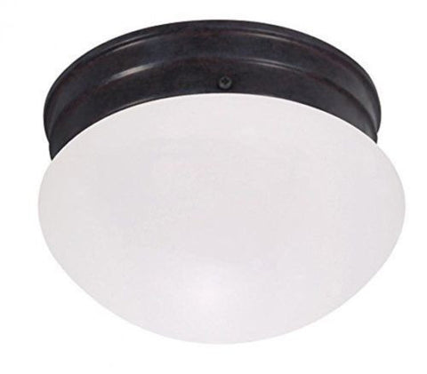 "Nuvo 60-2651 - 6"" Small Flush Mount Ceiling Light in Mahogany Bronze Finish"