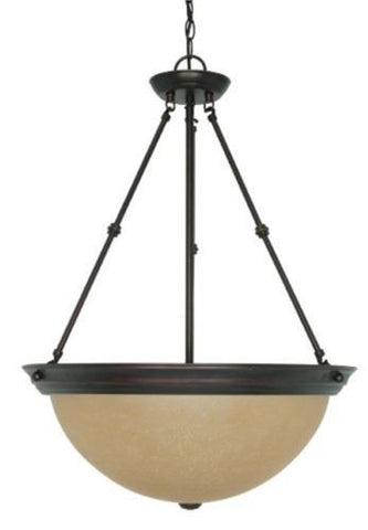"Nuvo 60-3113 - 20"" Large Pendant Light Fixture in Mahogany Bronze Finish"