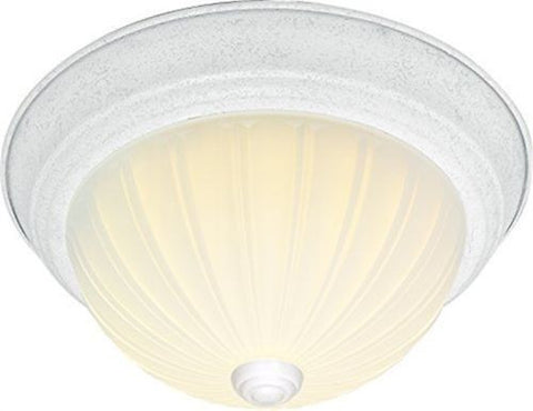 "Nuvo 60-443 - 11"" Dome Flush Mount Ceiling Light in White Finish"