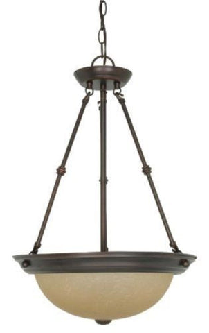 "Nuvo 60-3112 - 15"" Small Pendant Light Fixture in Mahogany Bronze Finish"