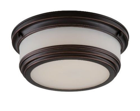 "Nuvo 62-325 - 11"" Flush Mount LED Ceiling Lights in Georgetown Bronze Finish"
