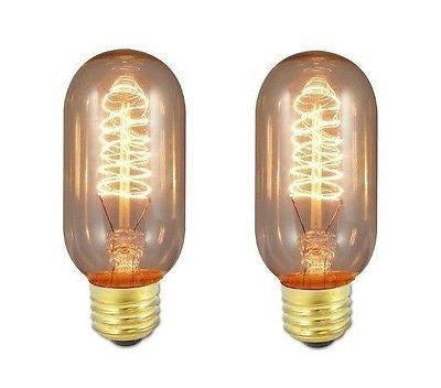 Bulbrite 134014 Nostalgic T14 Incandescent 40 Watt Warm White Medium Base 2-Pack