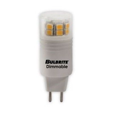 Bulbrite LED3GY6/SW/D 3 Watt LED Dimmable GY6 Bulb, GY6 Base, Soft White