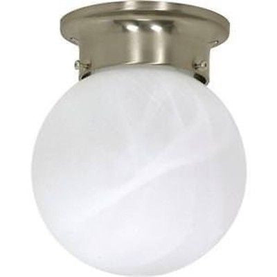 "Nuvo 60-257 - 6"" Ball Ceiling Light in Brushed Nickel Finish"