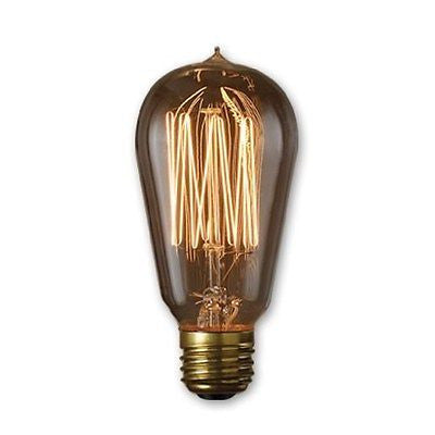 Bulbrite 136019 60 Watt Incandescent Nostalgic 1910 Thread A19, Antique Finish