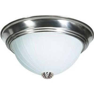 "Nuvo 60-447 - 13"" Dome Flush Mount Ceiling Light in Brushed Nickel Finish"