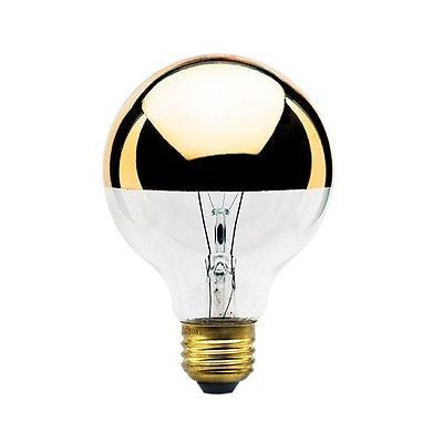 Bulbrite 40G25HG 40 Watt Dimmable Incandescent Half Gold G25 Bulb, Medium Base