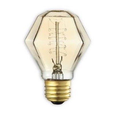Bulbrite 132518 40 Watt Incadescent Gem Antique Spiral Bulb, Antique Finish