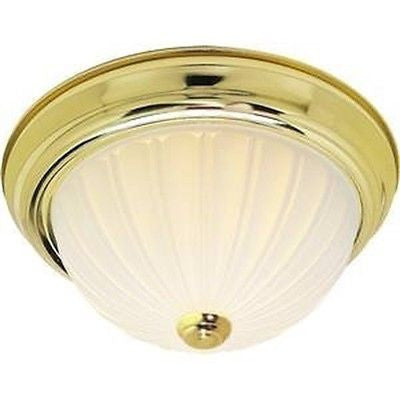 "Nuvo 60-442 - 15"" Dome Flush Mount Ceiling Light in Polished Brass Finish"