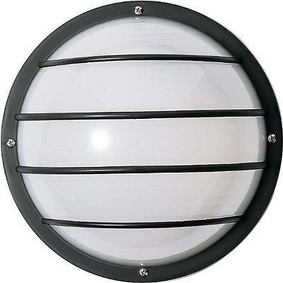 "Nuvo 77-861 - 10"" Round Cage Outdoor Wall Light with Polysynthetic Body & Lens"