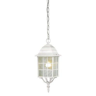 "Nuvo 60-4911 - 16"" Outside Hanging Lights in White Finish with Frosted Glass"