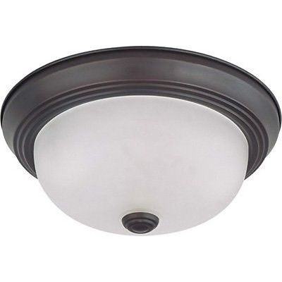 "Nuvo 60-3335 - 11"" Flush Mount Ceiling Light in Mahogany Bronze Finish"