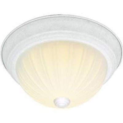 "Nuvo 60-444 - 13"" Dome Flush Mount Ceiling Light in White Finish"