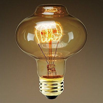 Bulbrite 132521 40 Watt Incadescent Lantern Antique Loop Bulb, Antique Finish