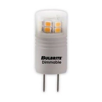 Bulbrite LED3G8/SW/D 3 Watt Dimmable LED G8 Bulb, G8 Base, Soft White Finish