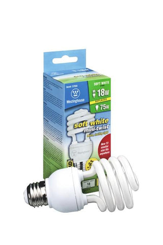 ... 18 Watt Mini Twist CFL Light Bulb   Lighting Supply Group