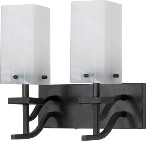 "Nuvo 60-005 - 13"" Textured Black Wall Mounted Vanity Fixture"