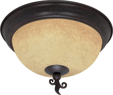 "Nuvo 60-041 - 15"" Old Bronze Flush Mount Ceiling Light Fixture"