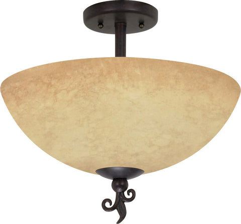 "Nuvo 60-042 - 16"" Old Bronze Semi Flush Ceiling Light Fixture"