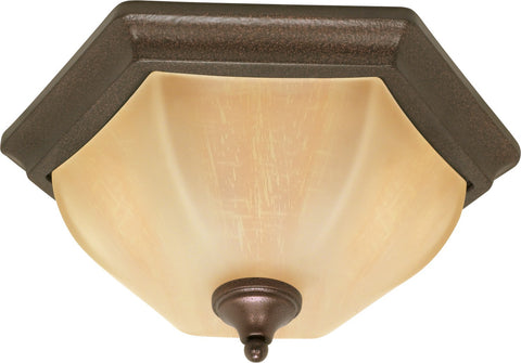 "Nuvo 60-056 - 16"" Copper Bronze Flush Ceiling Light Fixture"