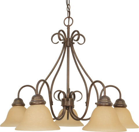 Nuvo 60-1024 - 5-Lights Chandelier in Sonoma Bronze with Champagne Glass