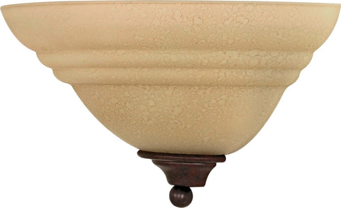 "Nuvo 60-106 - 13"" Wall Sconce in Old Bronze Finish with Amber Water Glass"