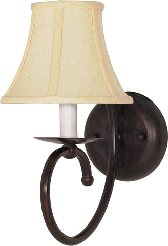 "Nuvo 60-111 - 6"" Wall Sconce in Old Bronze Finish with Natural Linen Shade"