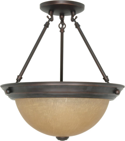 Nuvo 60-1259 - Medium Dome Semi Flush Ceiling Light Fixture